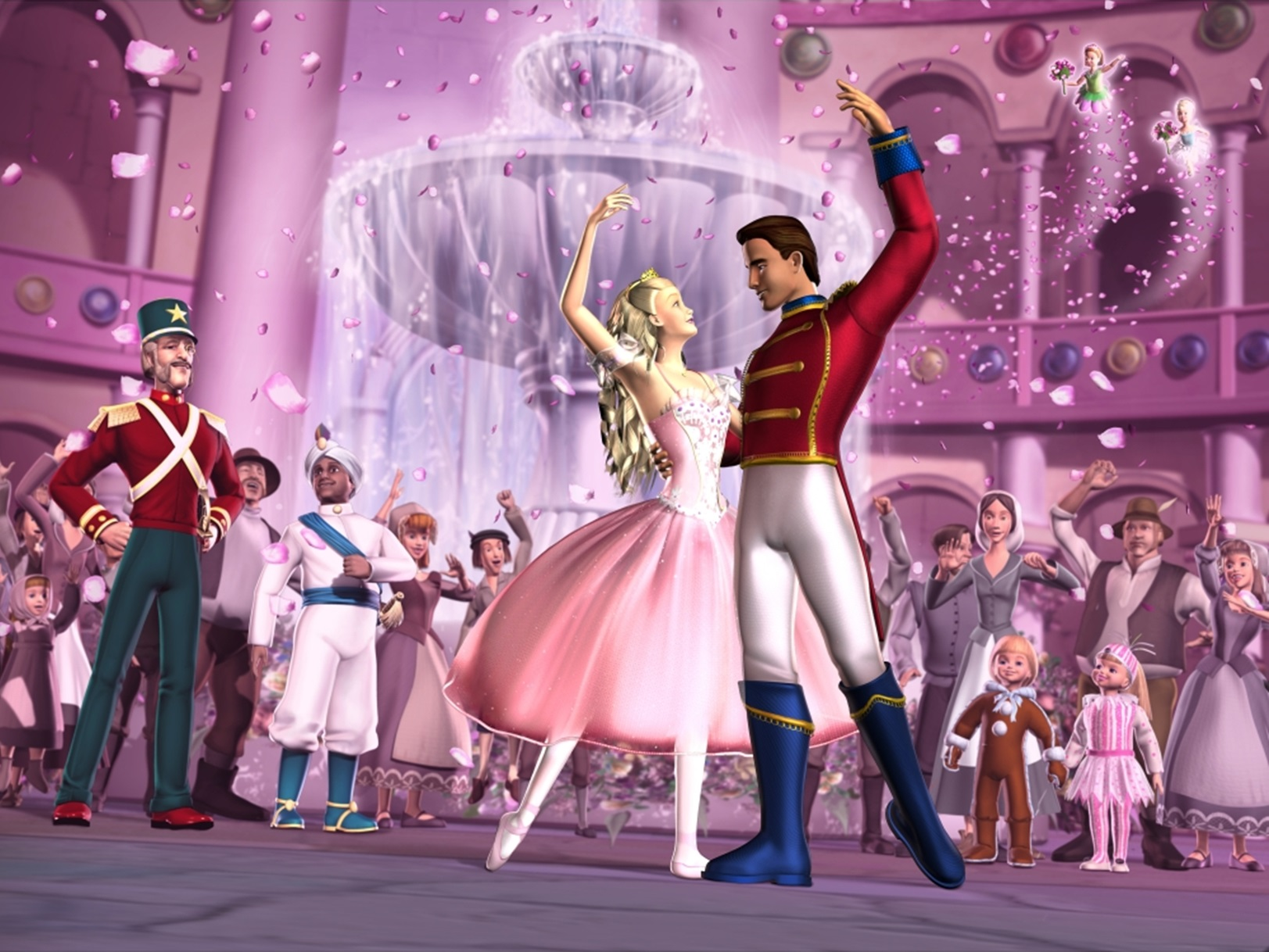 Barbie is wooed by Prince Eric in Barbie in the Nutcracker (2001)