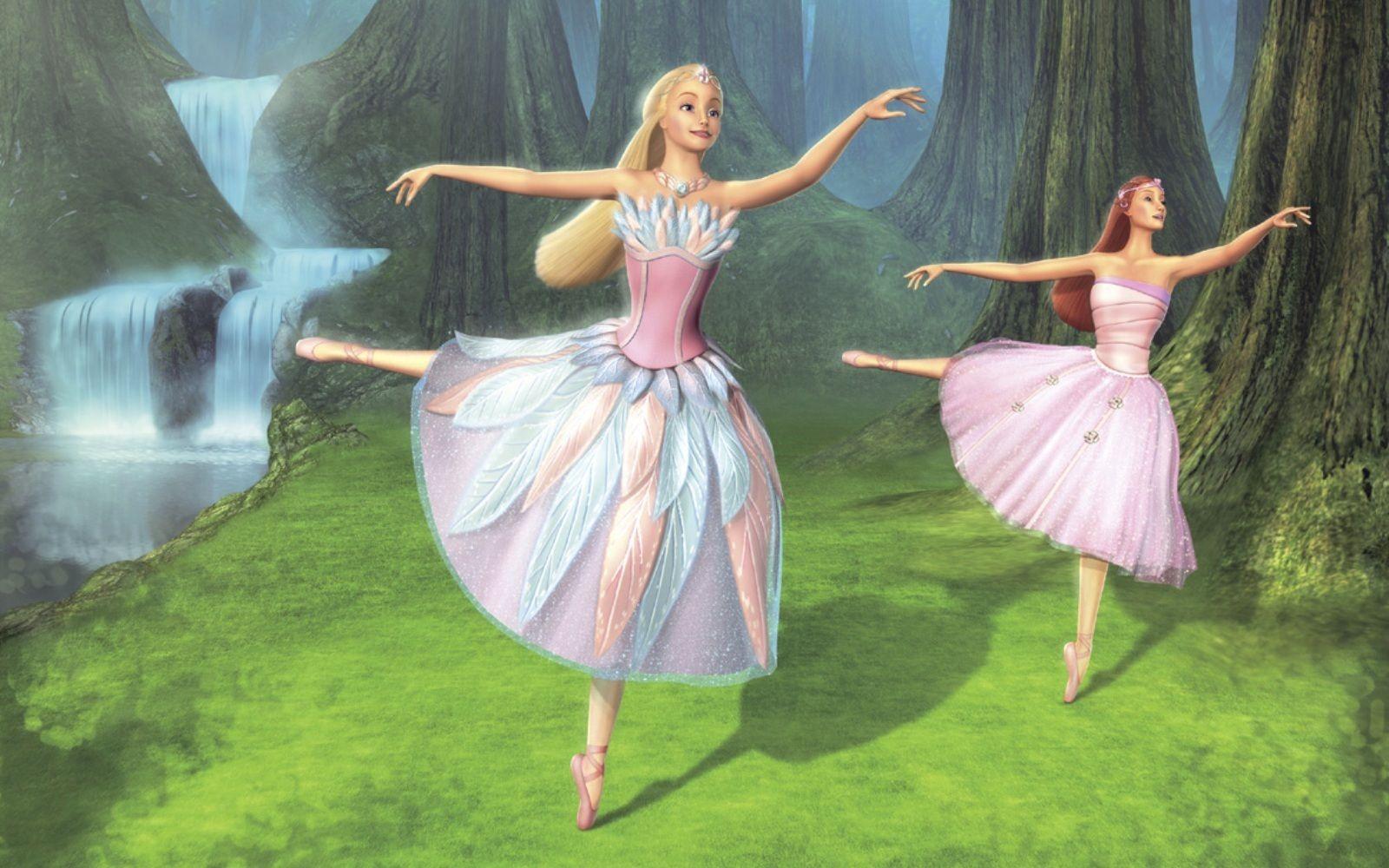 Barbie dancing in Barbie of Swan Lake (2003)