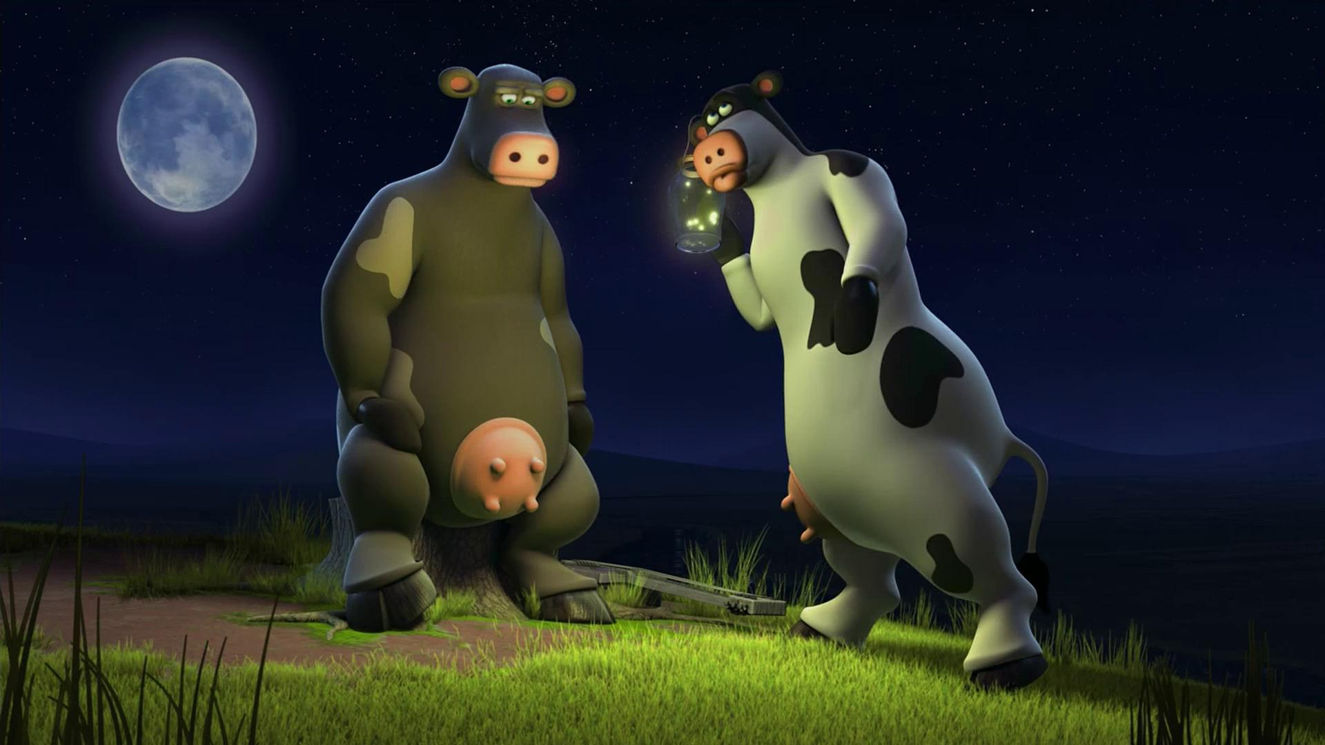 Talking cows in Barnyard (2006)