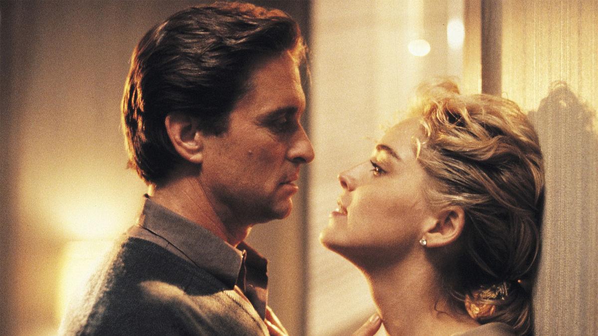 Michael Douglas and Sharon Stone in Basic Instinct (1992)