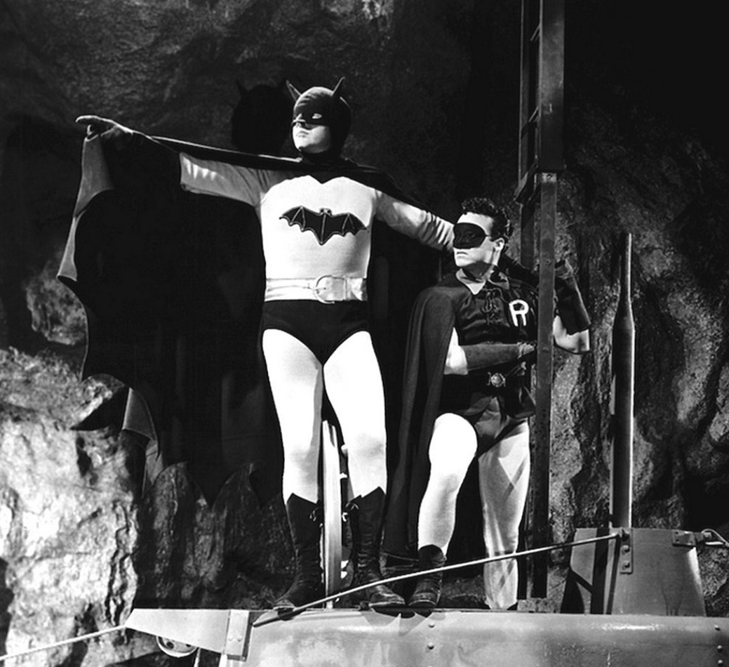 Batman (Lewis Wilson) and Robin (Douglas Croft) in Batman (1943)