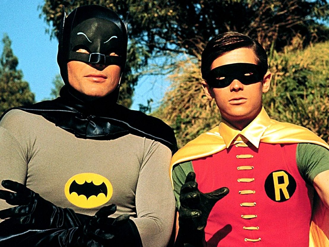 Batman (Adam West) and Robin (Burt Ward) in Batman (1966)
