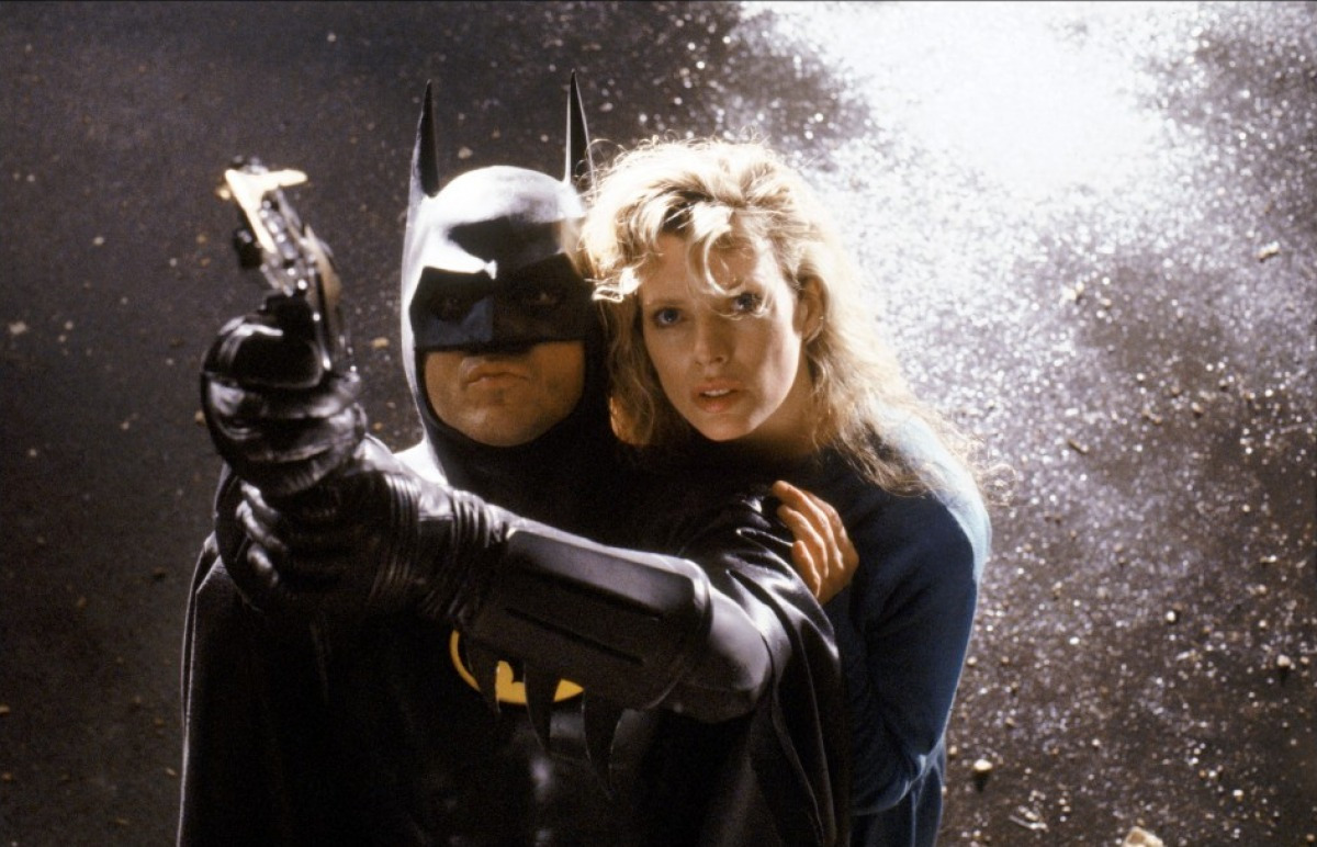 Batman (Michael Keaton) and Vicki Vale (Kim Basinger)