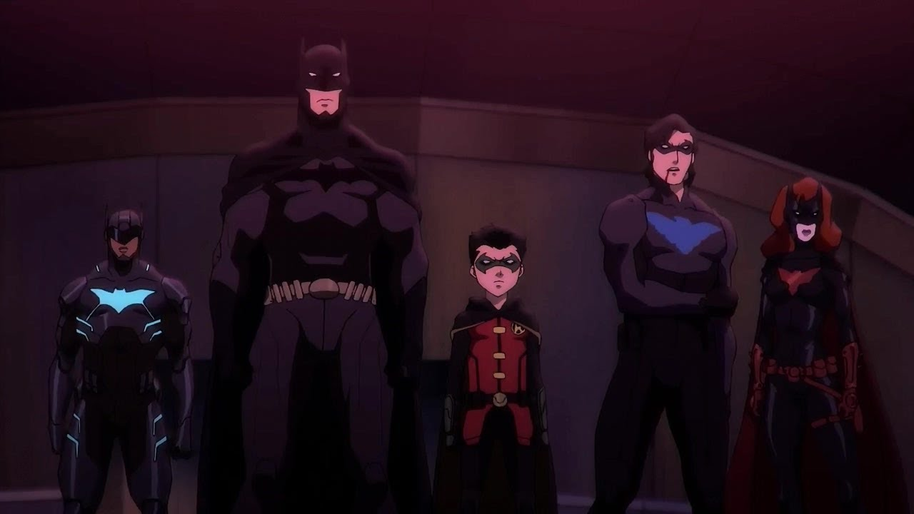 Batwing, Batman, Damian, Nightwing and Batwoman in Batman Bad Blood (2016)