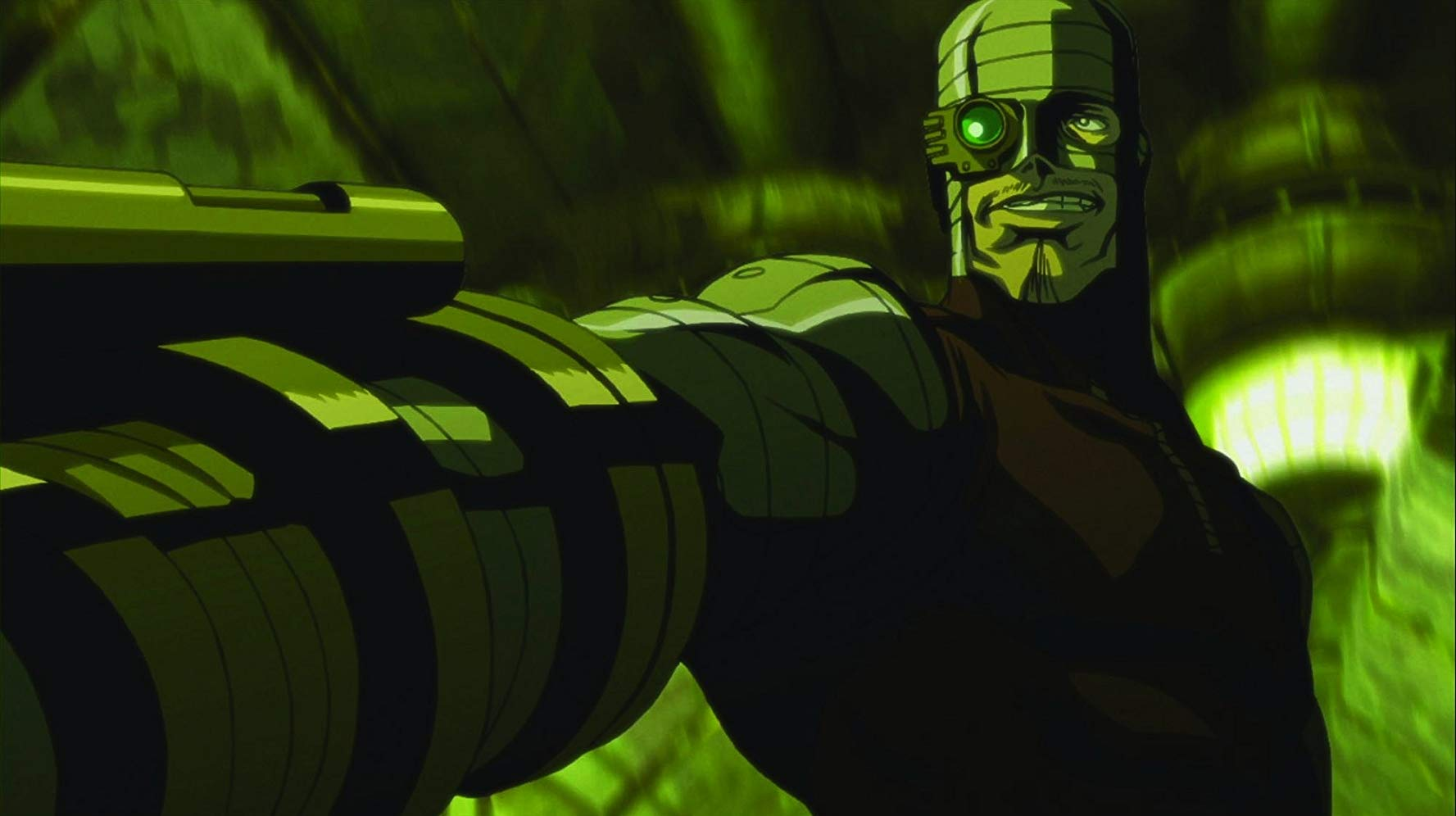 The first screen appearance of Deadshot in Batman Gotham Knight (2008)