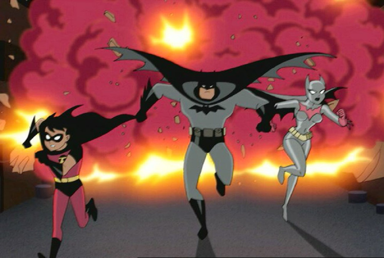 (l to r) Robin, Batman and Batwoman in Batman Mystery of the Batwoman (2003)