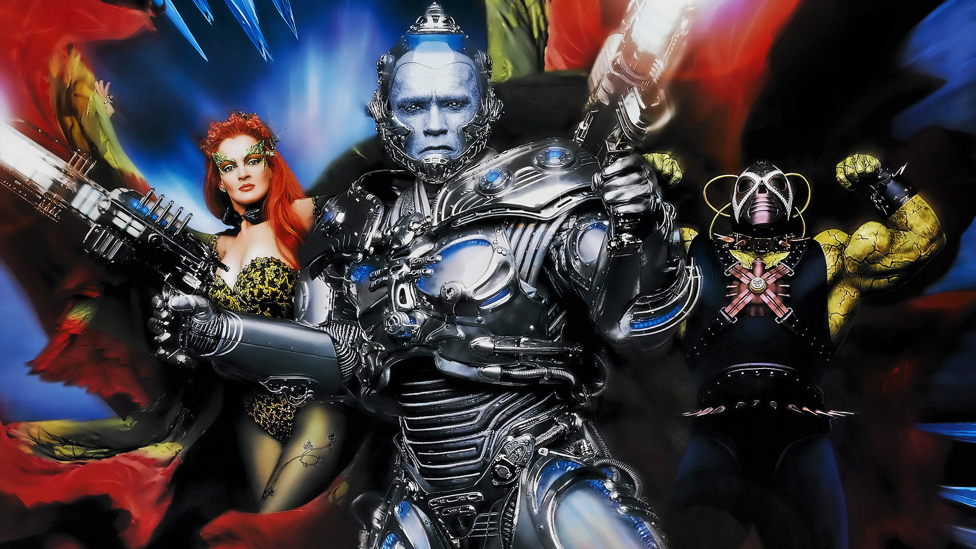 Poison Ivy, Mr Freeze and Bane in Batman & Robin (1997)