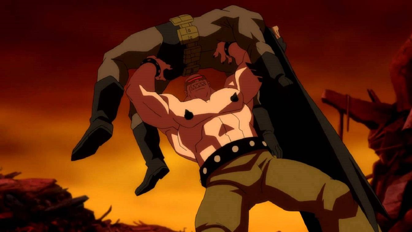 Batman vs the Mutant Leader in Batman The Dark Knight Returns Part I (2012)