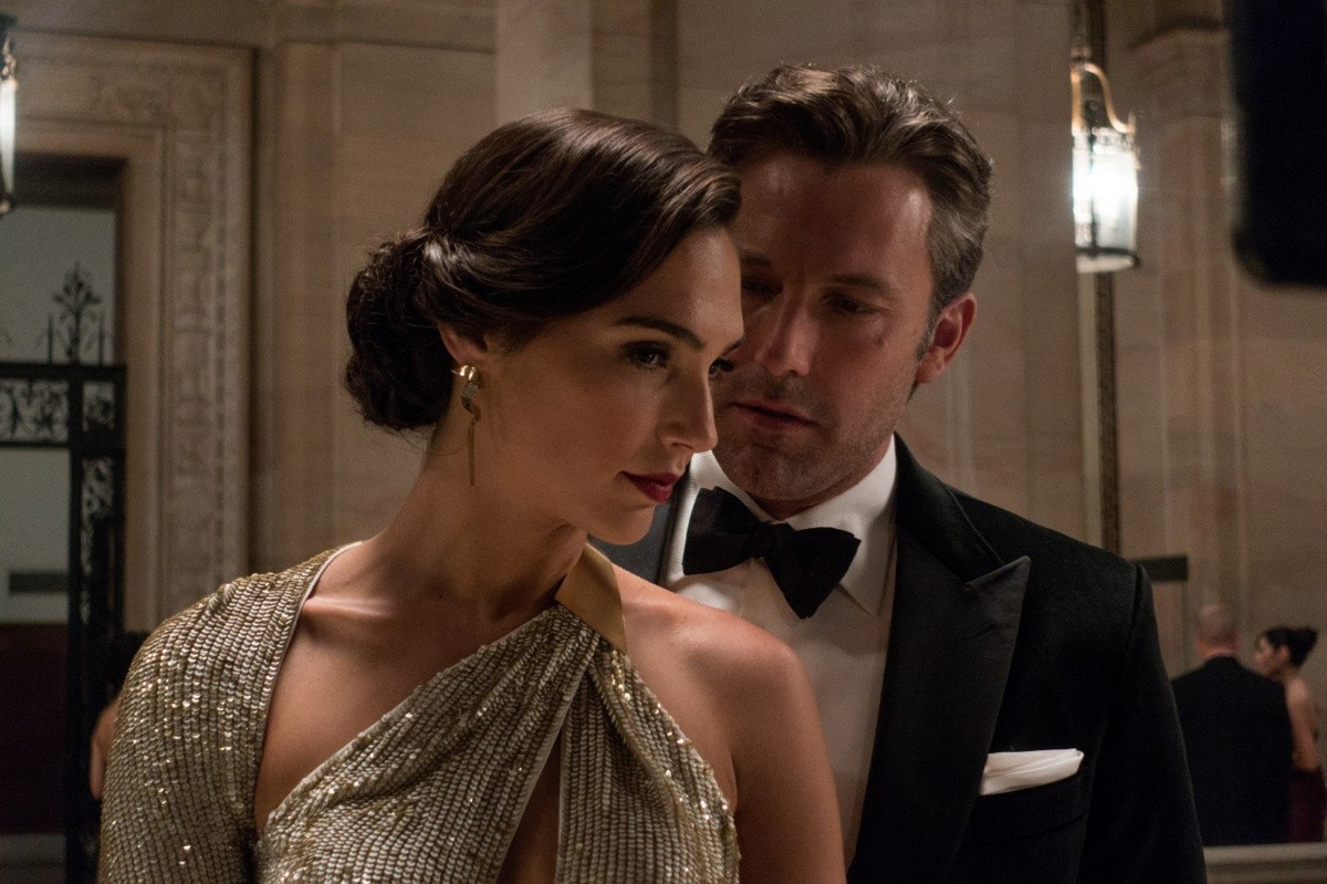 Diana Prince (Gal Gabot) and Bruce Wayne (Ben Affleck) in Batman V Superman Dawn of Justice (2016)
