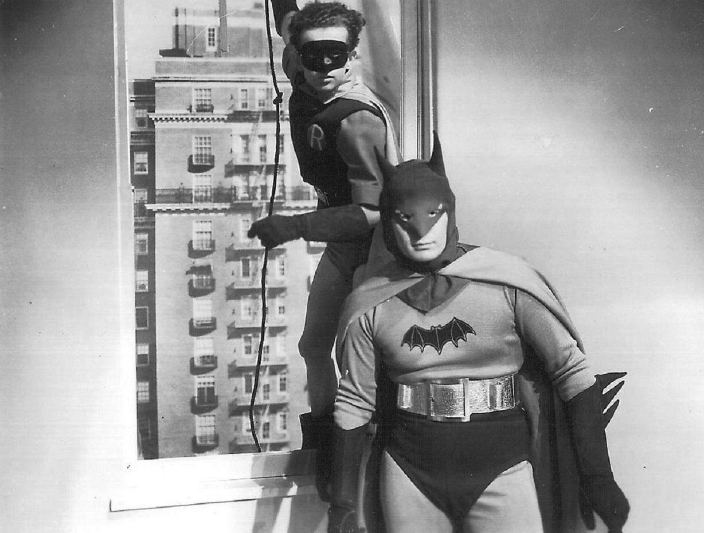 Batman (Robert Lowery) and Robin (John Duncan) in Batman and Robin (1949)