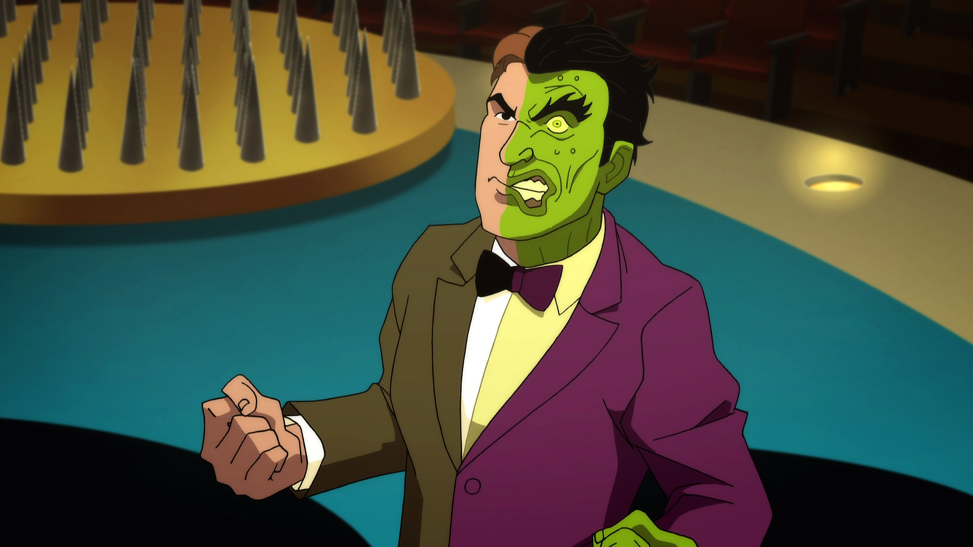 Two Face (voiced by William Shatner) in Batman vs Two-Face (2017)