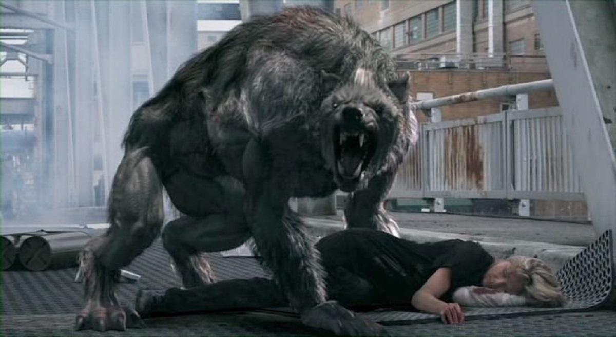 Werewolf in an airplane terminal in Battledogs (2013)