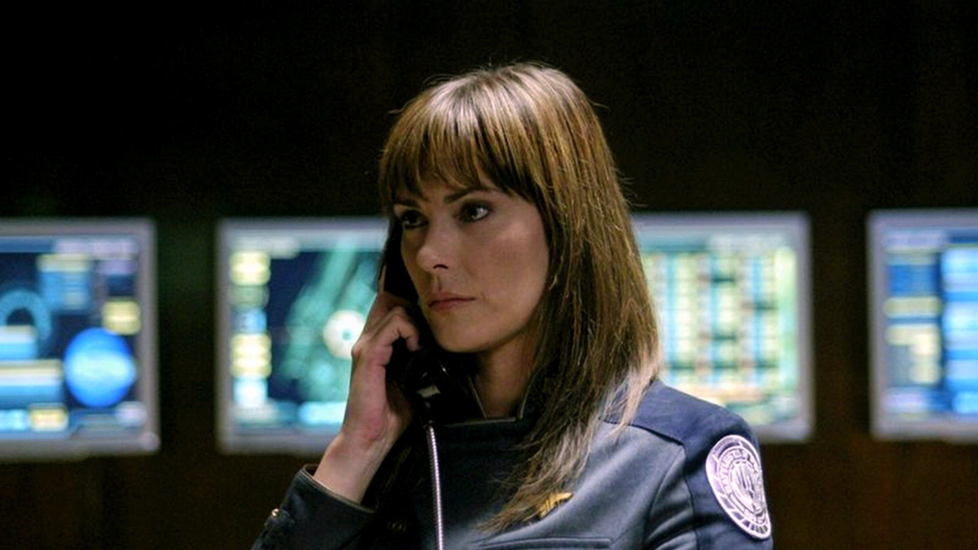 Michelle Forbes as Commander Cain in Battlestar Galactica: Razor (2007)