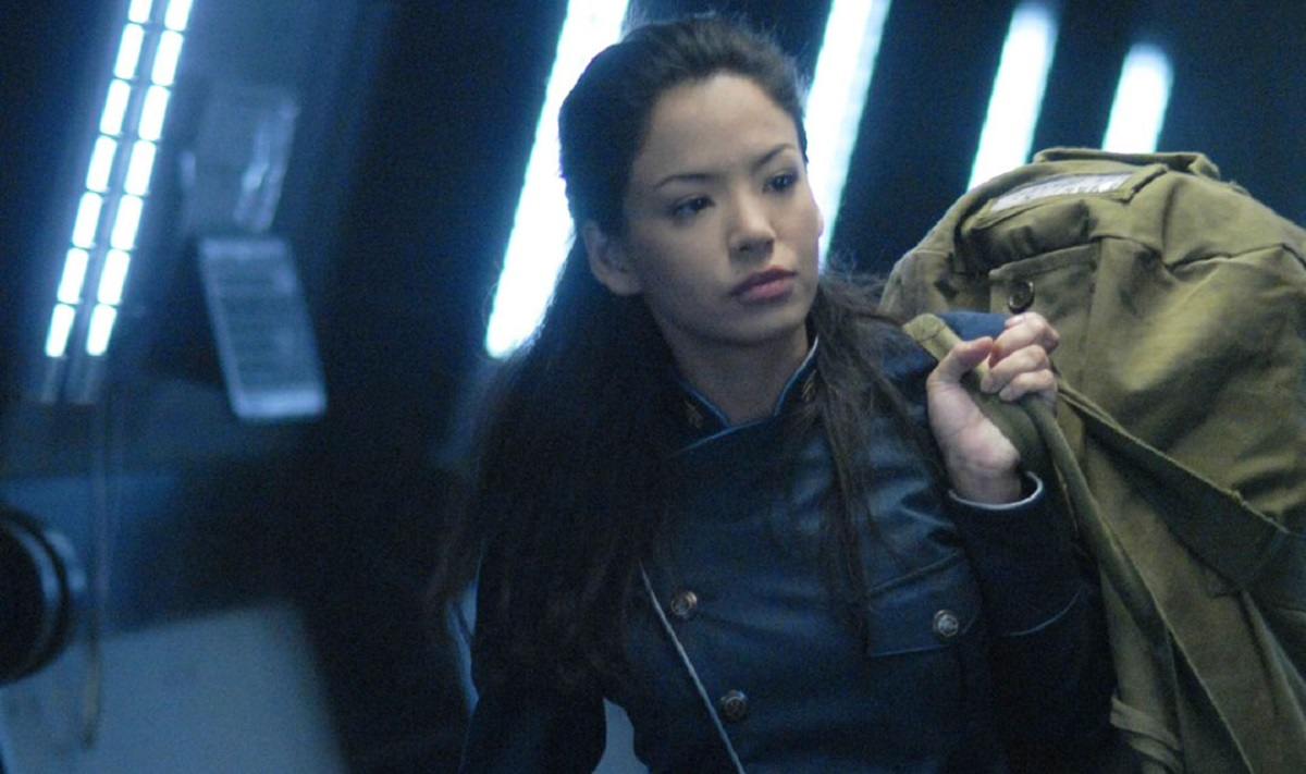 Stephanie Jacobsen as Lieutenant Kendra Shaw in Battlestar Galactica: Razor (2007)