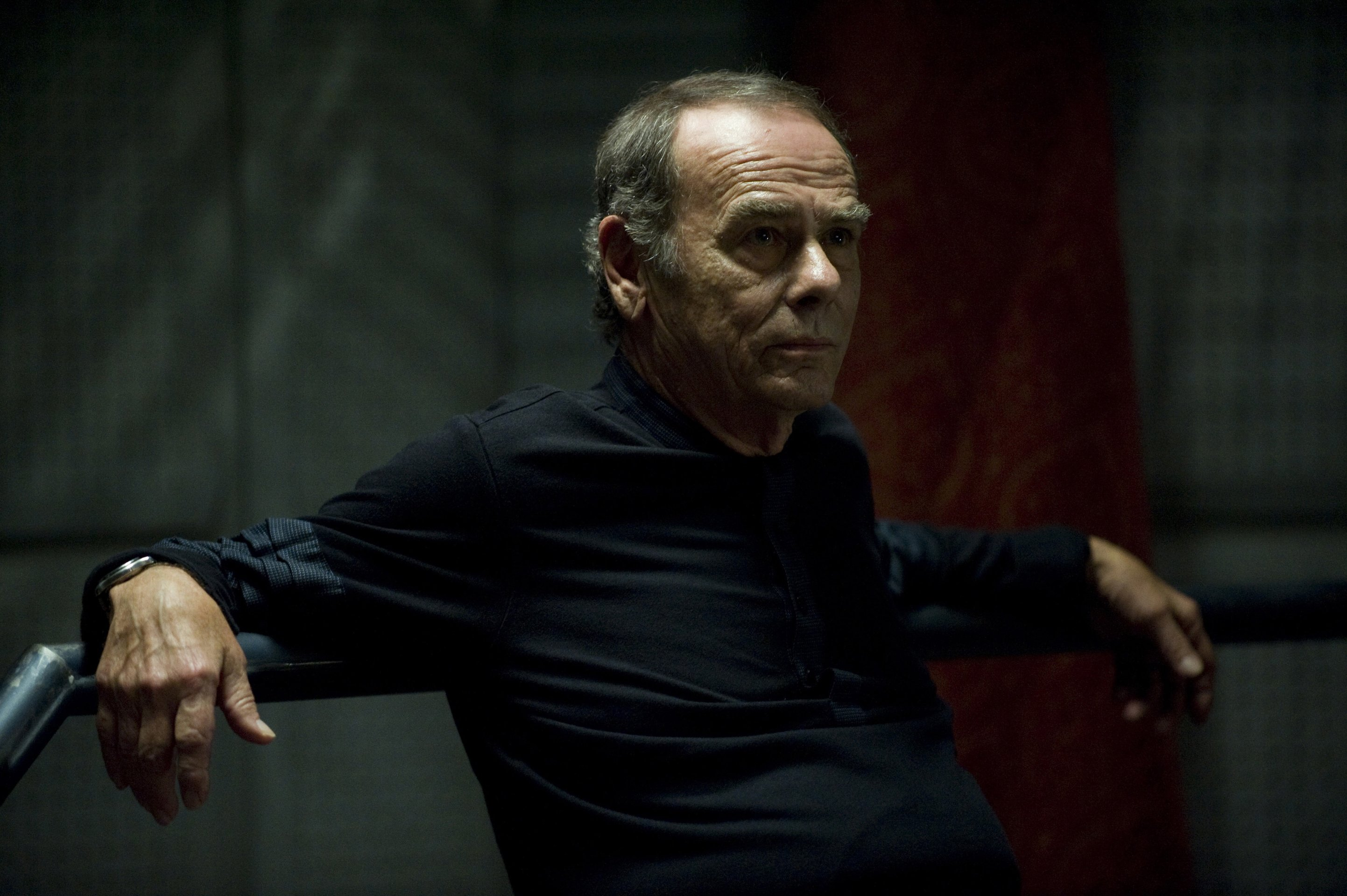 Dean Stockwell as the Cylon leader No 1 in Battlestar Galactica: The Plan (2009)