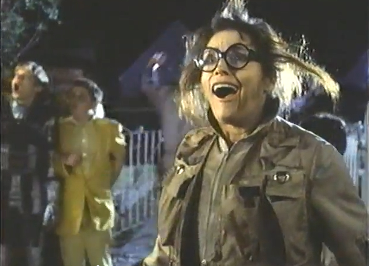 Margot Kidder as the cryptozoologist in Beanstalk (1994)