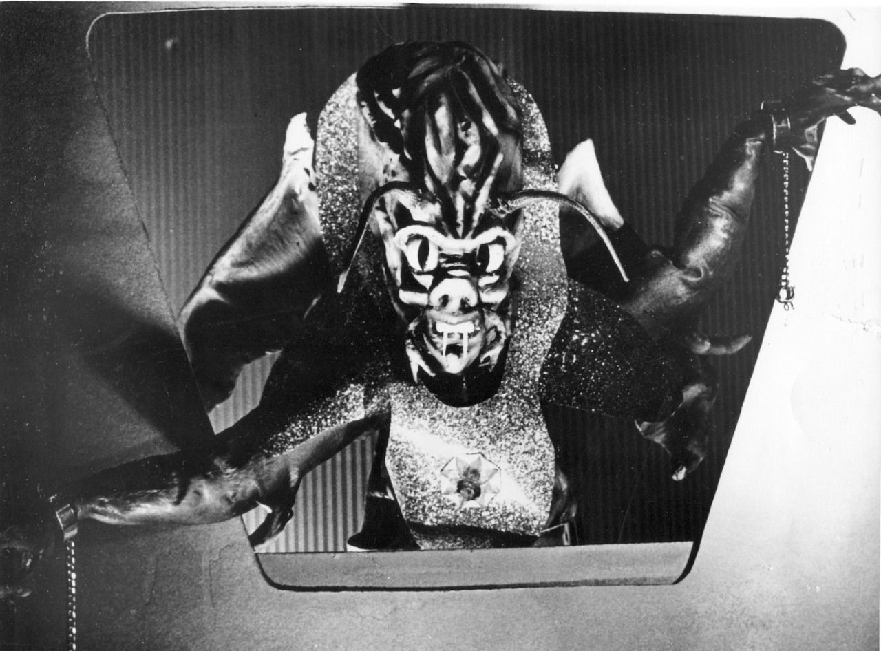 The alien invader in The Beast with a Million Eyes (1955)
