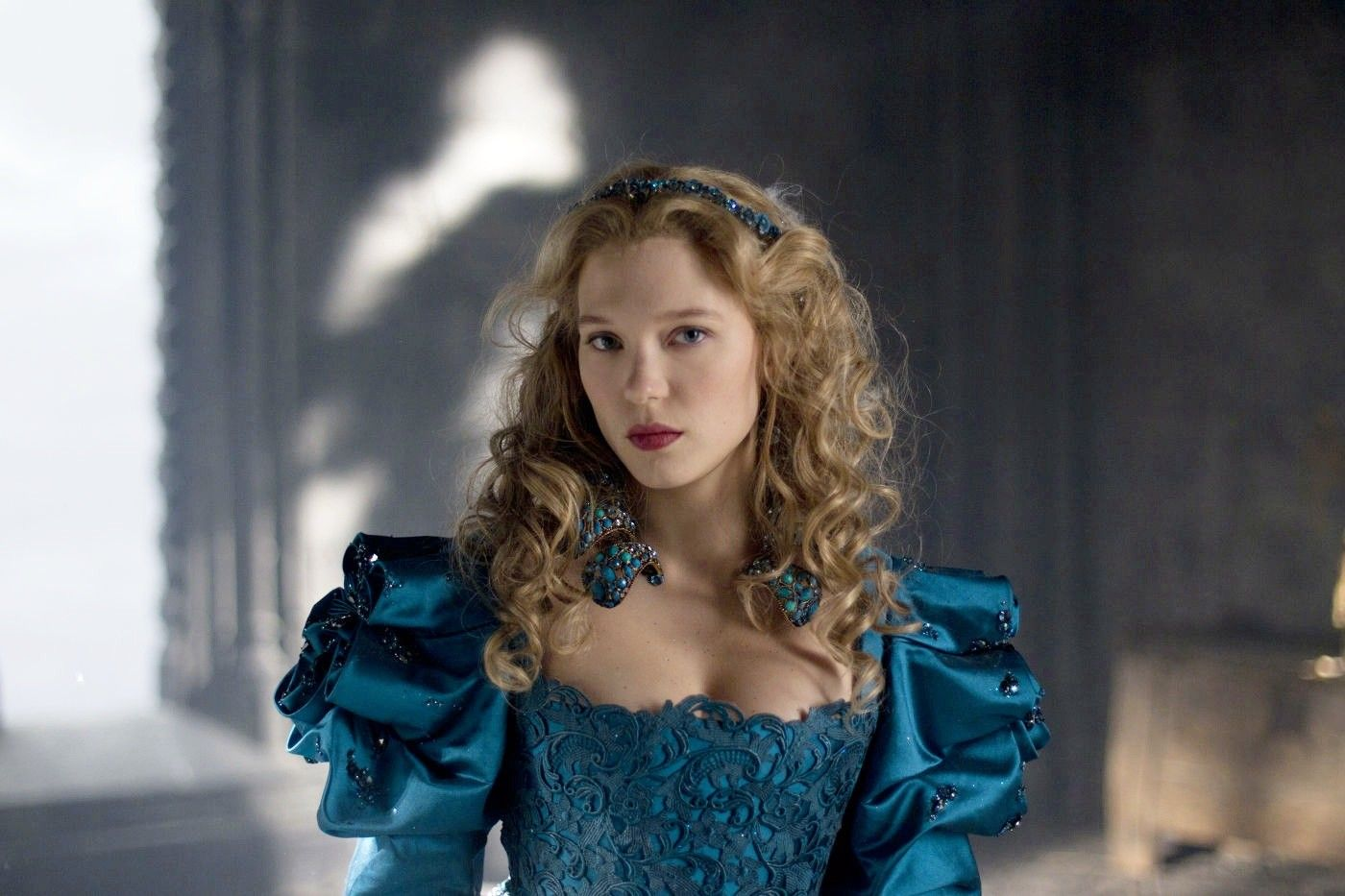 Lea Seydoux as Belle in Beauty and the Beast (2014)