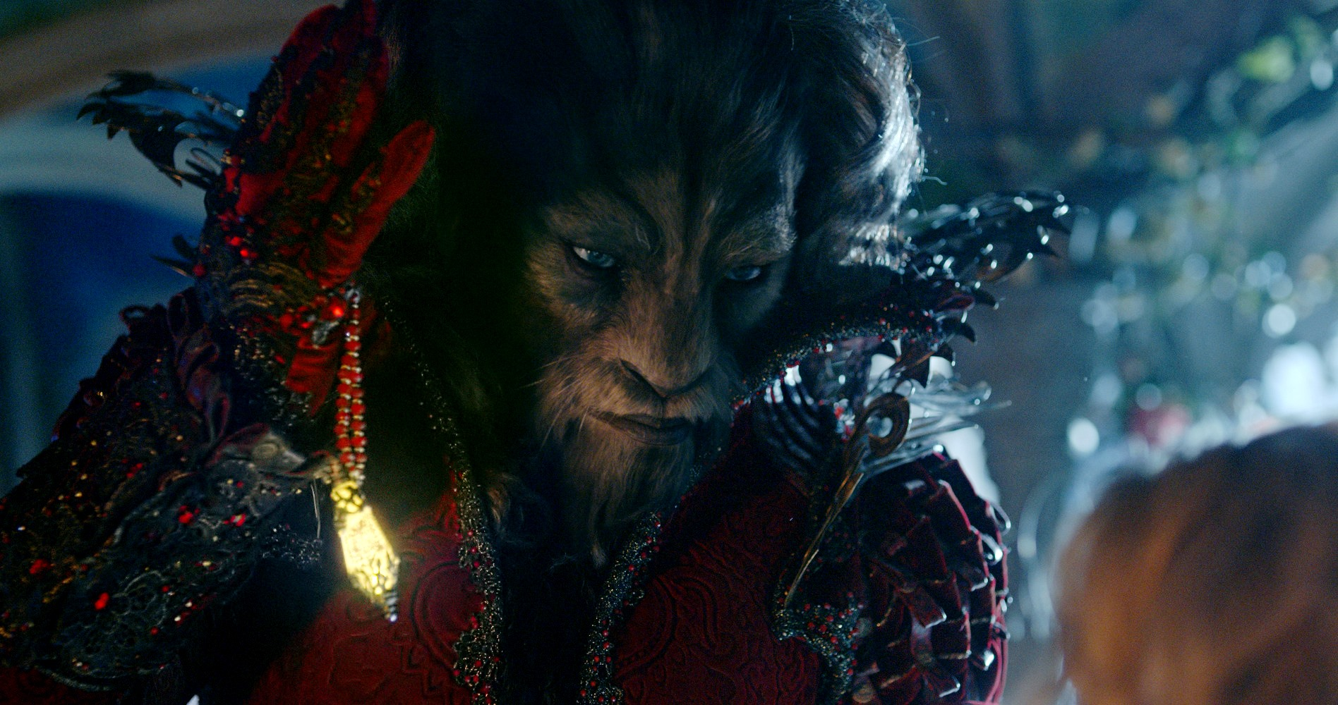 Vincent Cassel as the mocapped Beast in Beauty and the Beast (2014)