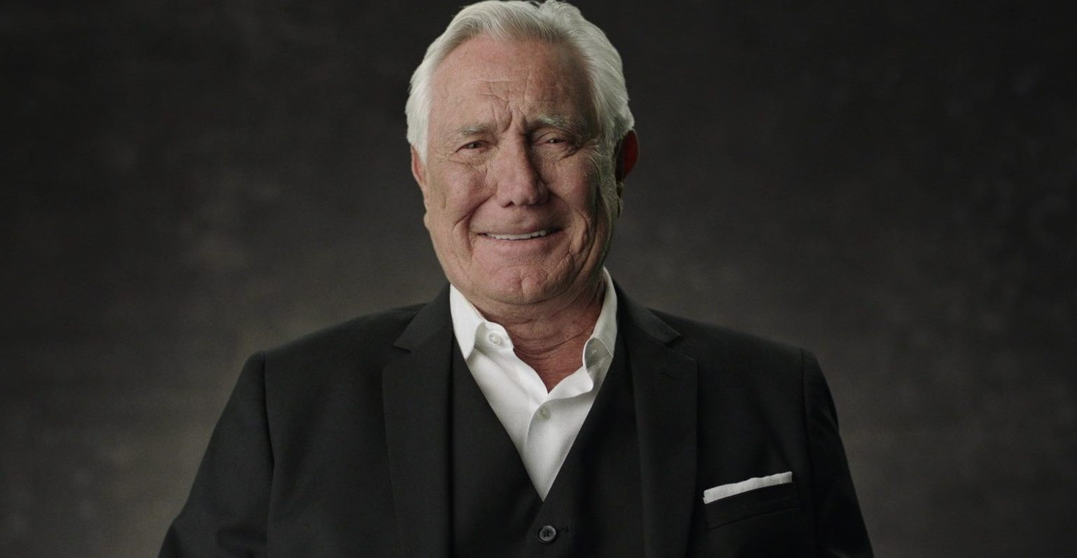 An interviewed George Lazenby in Becoming Bond (2017)