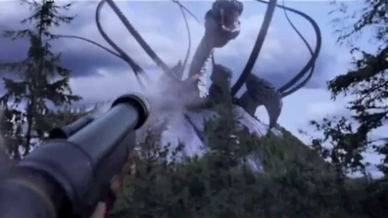 The monster wrapped around the Earth emerges in Behemoth (2011)