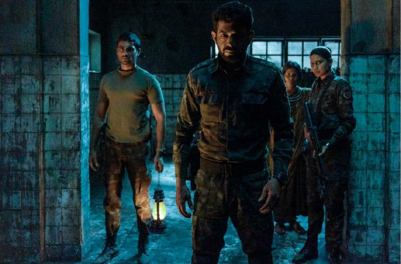 (l to r) Jatin Goswami, Vineet Kumar, Aahana Kumra and Manjiri Pupala face zombies