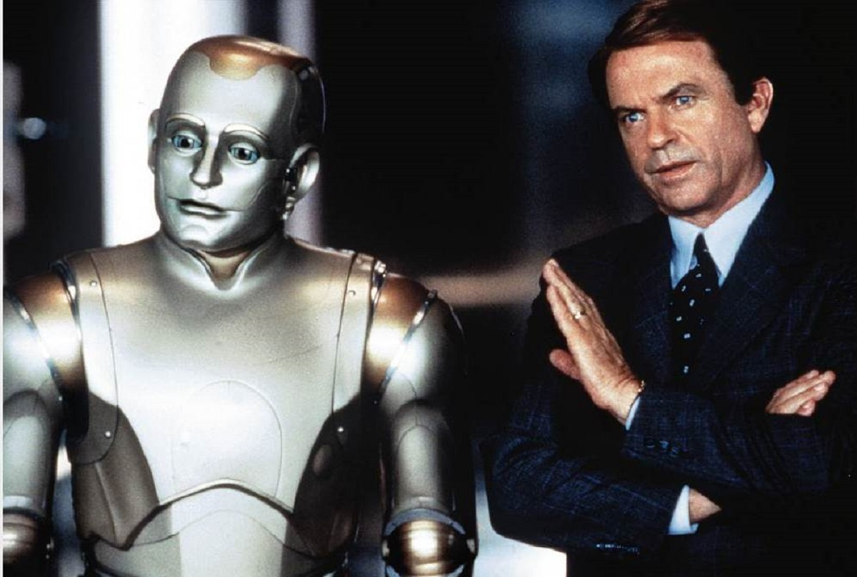 Sam Neill with Andrew the android (Robin Williams) in Bicentennial Man (1999)