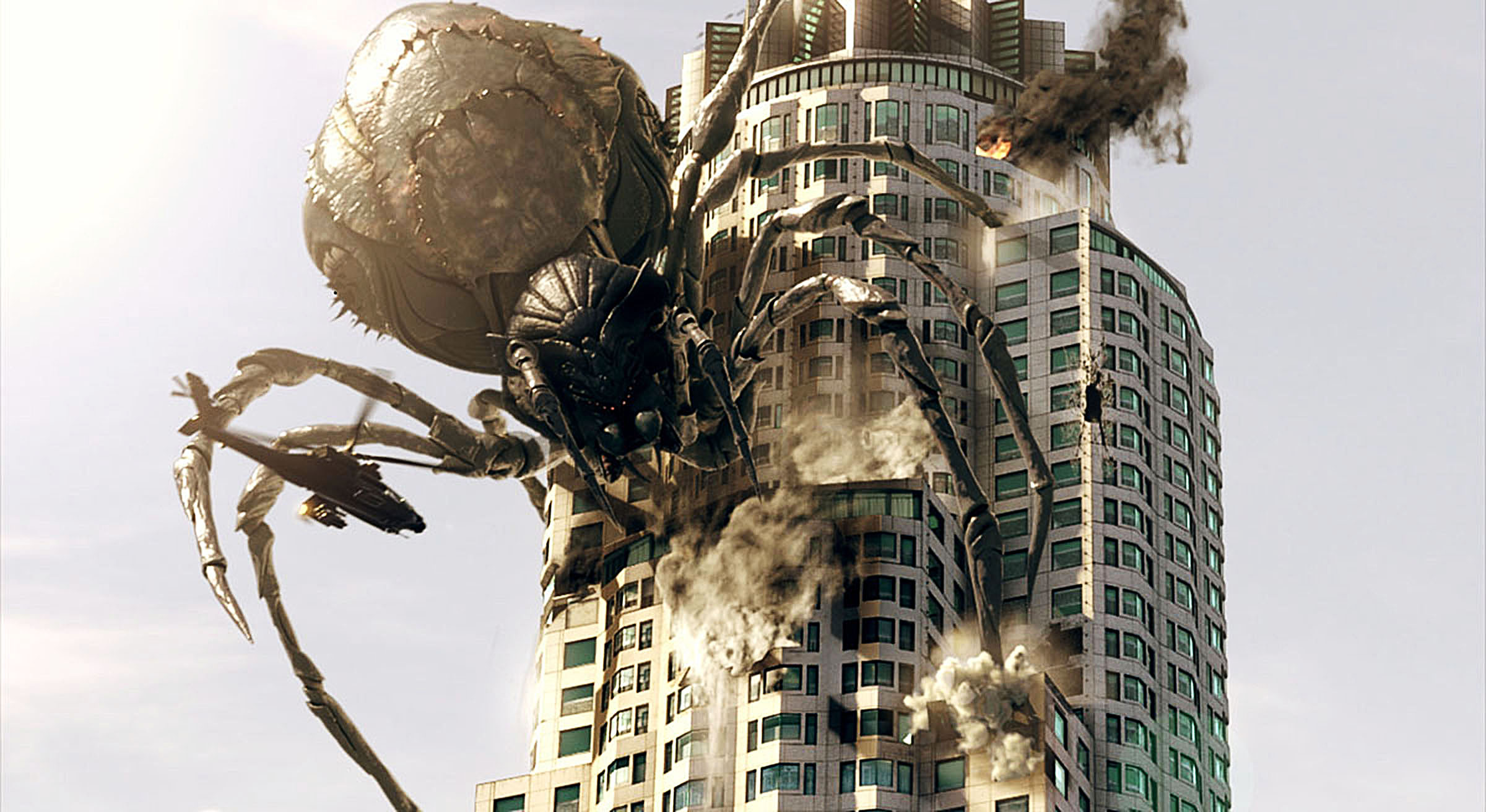 Giant spiders amok in L.A. in Big Ass Spider! (2013)