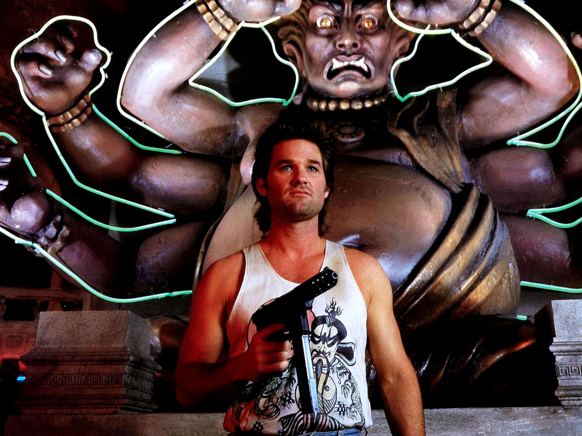 Kurt Russell as Jack Burton in Big Trouble in Little China (1986)