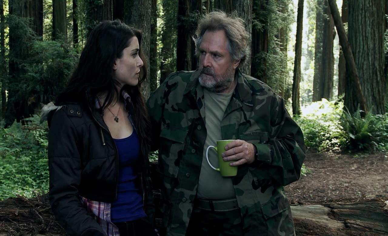 Ashley Woods and Frank Ashmore in Bigfoot: The Lost Coast Tapes (2012)