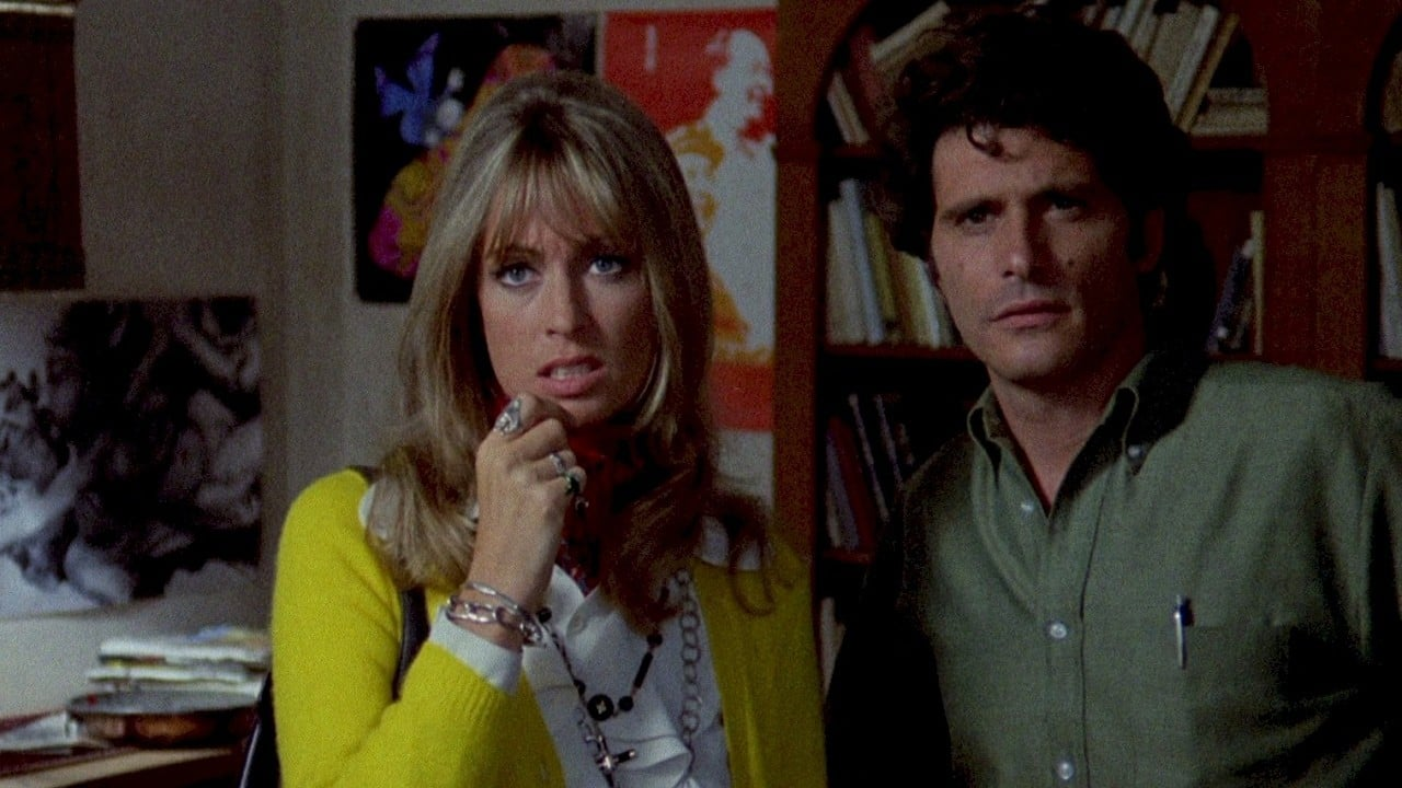 Suzy Kendall and Tony Musante in The Bird with the Crystal Plumage (1970)