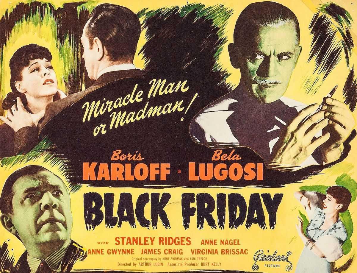 Lobby card from Black Friday (1940)
