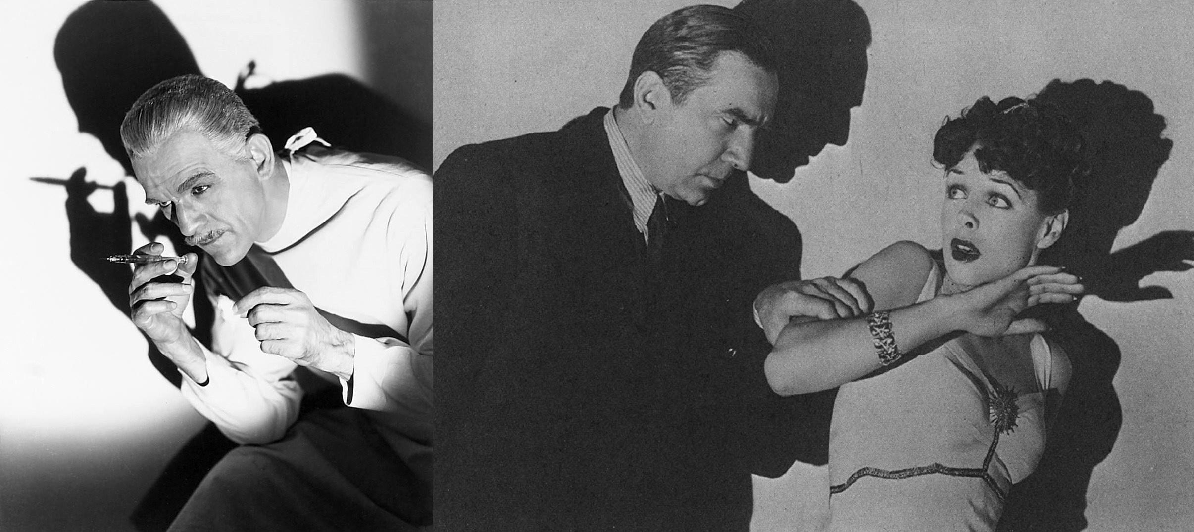 Boris Karloff, Bela Lugosi, Anna Nagel in Black Friday (1940)