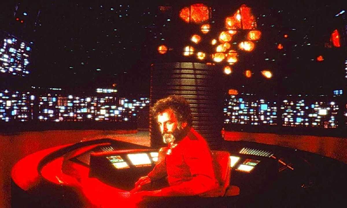 Dr Hans Reinhart (Maximilian Schell) on the bridge of The Cygnus in The Black Hole (1979)