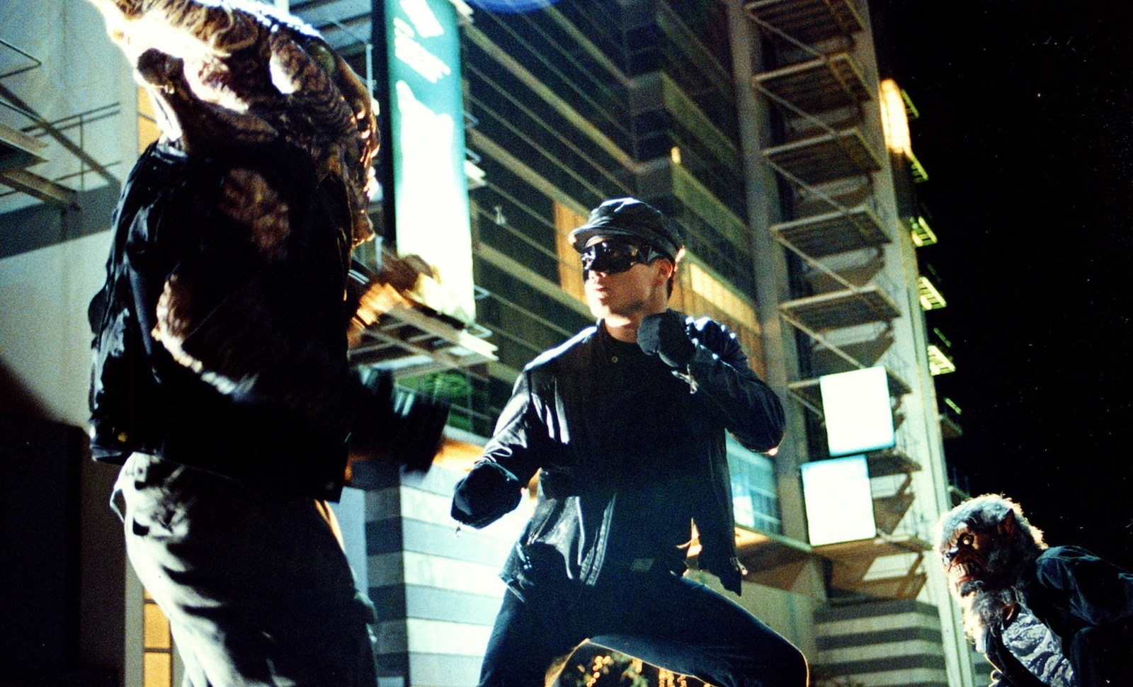 Andy On tackles mutant monsters in Black Mask 2: City of Masks (2002)