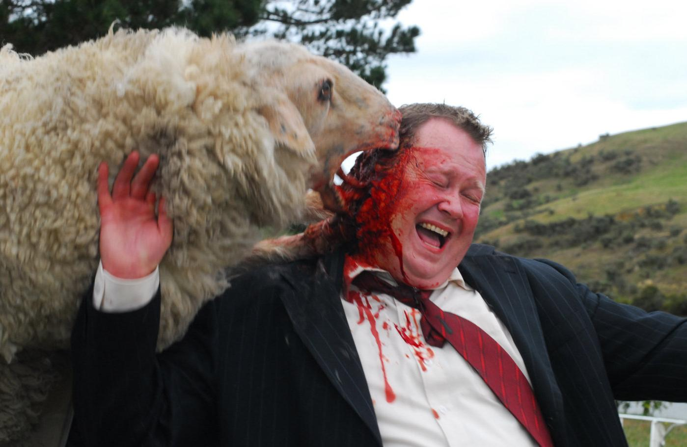 Mutant sheep attacks in Black Sheep (2006)