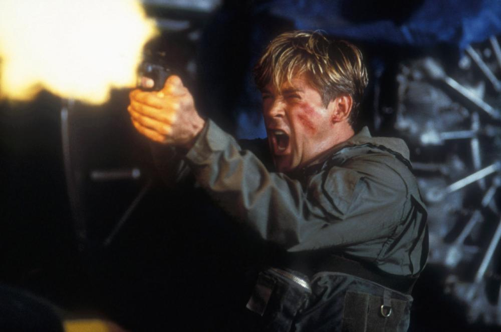 Michael Dudikoff in action as pilot Vince Conners in Black Thunder (1998)
