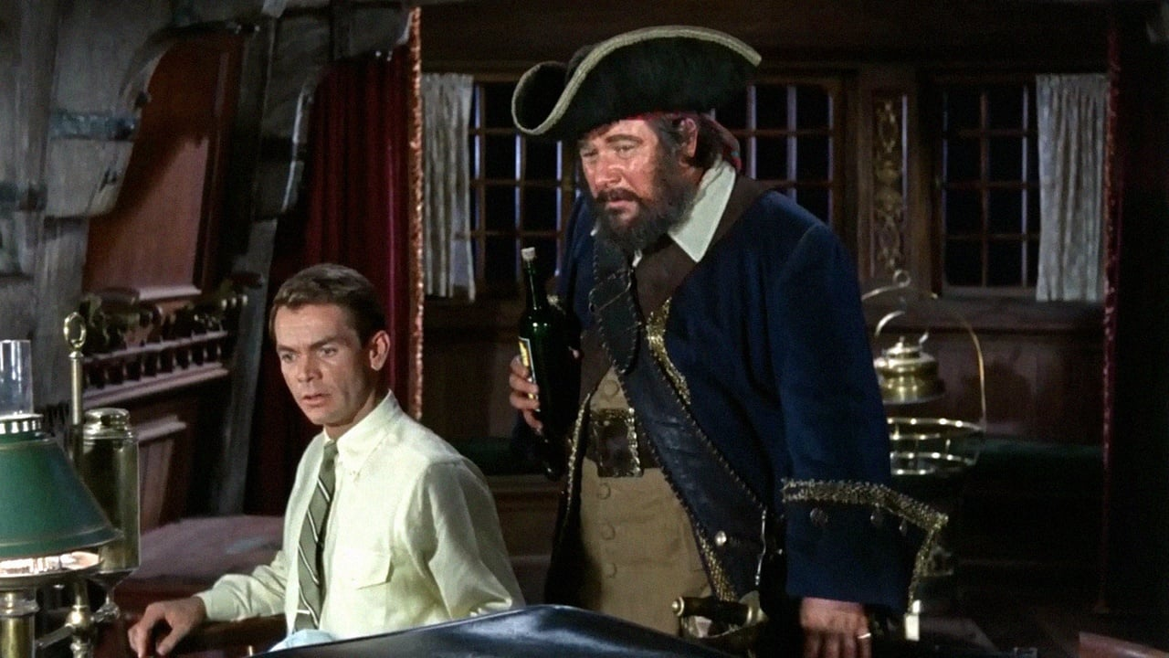 Coach Steve Walker (Dean Jones) and Captain Blackbeard (Peter Ustinov) in Blackbeard's Ghost (1968)