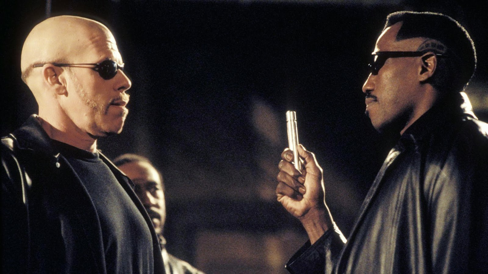 Ron Perlman, Wesley Snipes in Blade II (2002)
