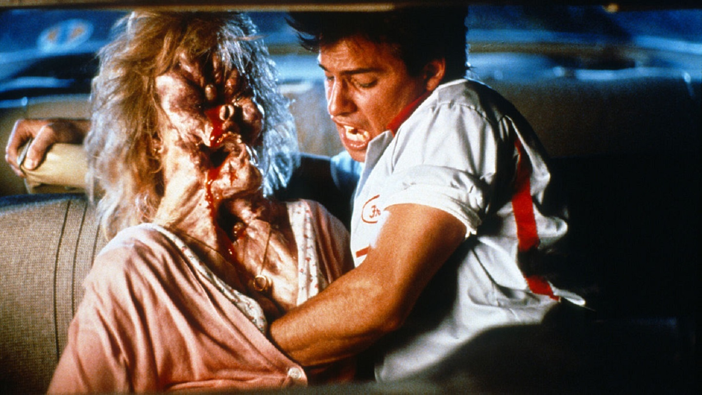 Donovan Leitch and date in The Blob (1988)