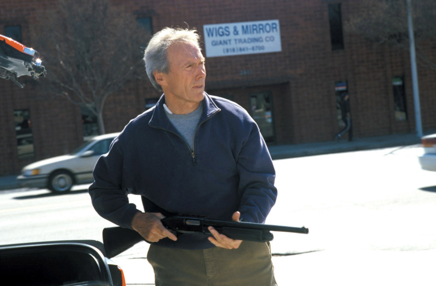 Clint Eastwood as Terry McCaleb, an aging FBI profiler brought out of retirement in the hunt for a killer again in Blood Work (2002)