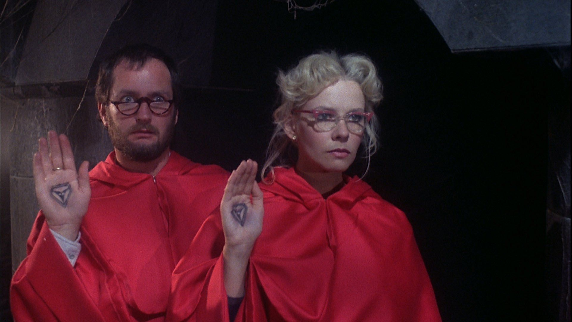 Kenny Everett and Pamela Stephenson in Bloodbath at the House of Death (1984)