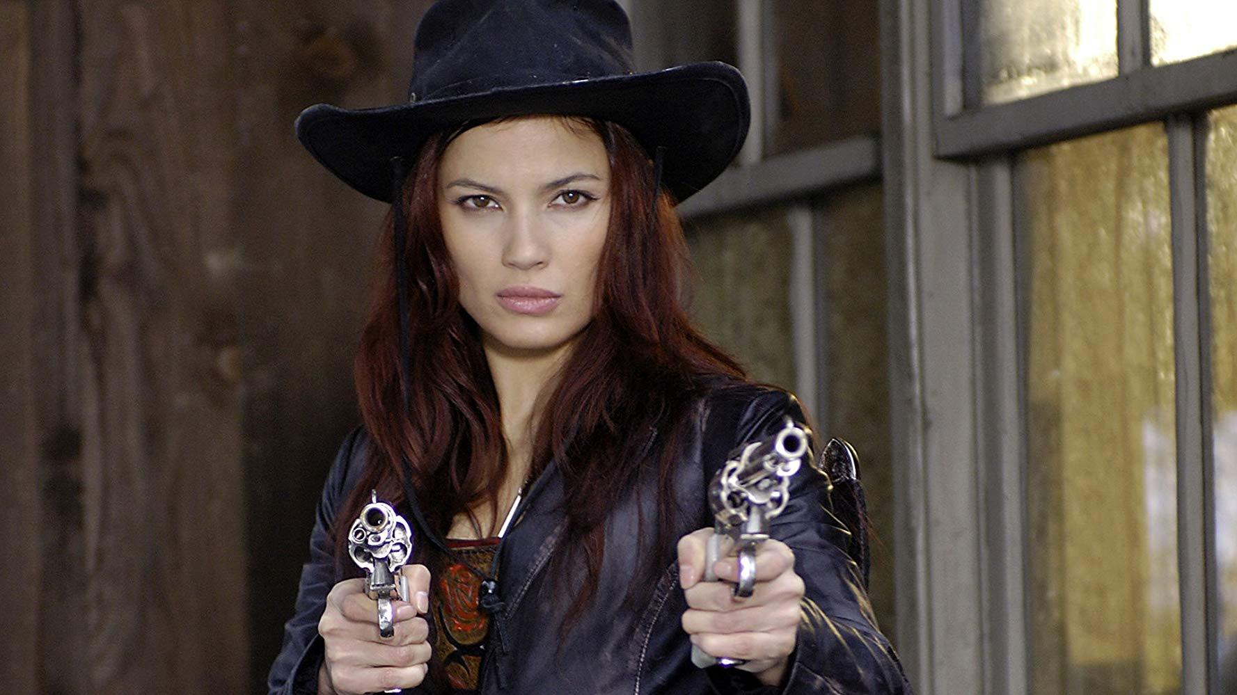 Natassia Malthe steps into the role of Rayne and a Westerns setting in Bloodrayne: Deliverance (2007)