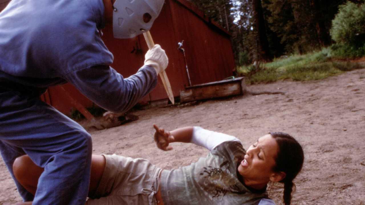 The Jason-lookalike killer in Bloody Murder (1999)