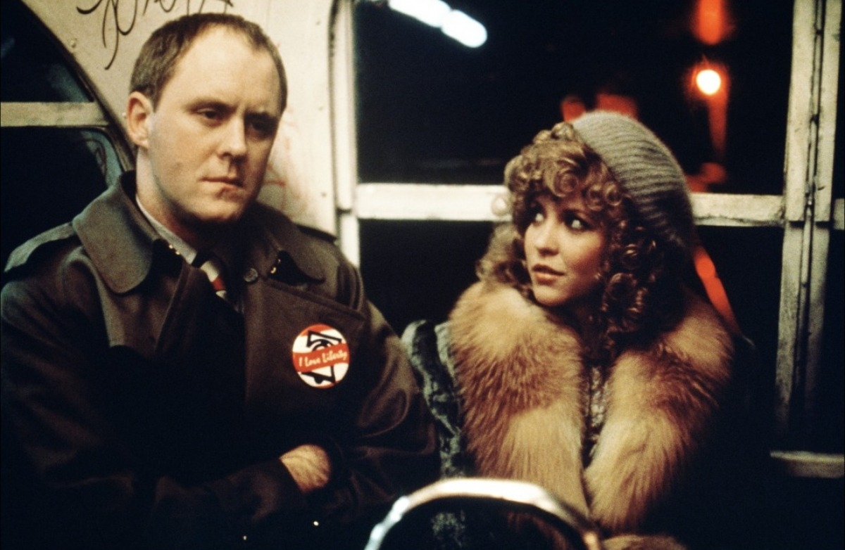 John Lithgow as the hired killer Burke and Nancy Allen as the prostitute Sally Bedina in Blow Out (1981)