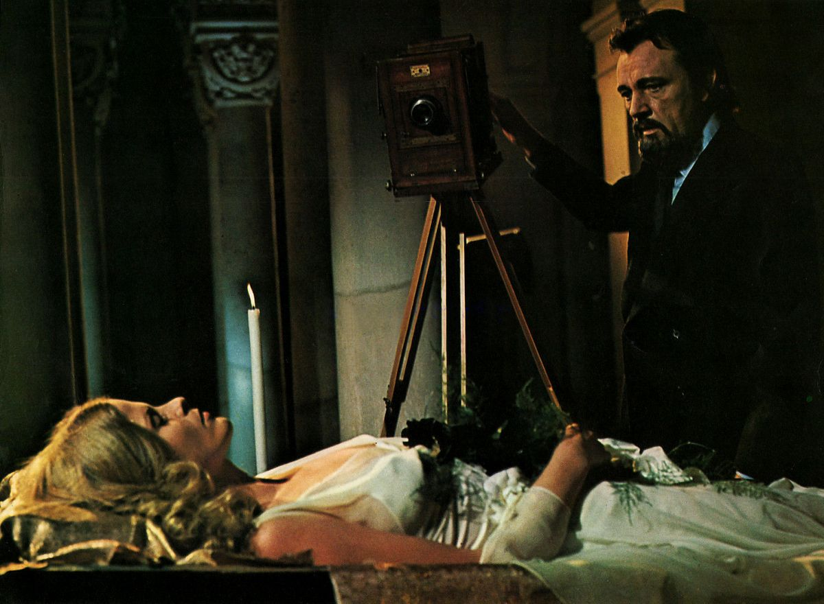 Richard Burton and wife Karin Schubert in Bluebeard (1972)