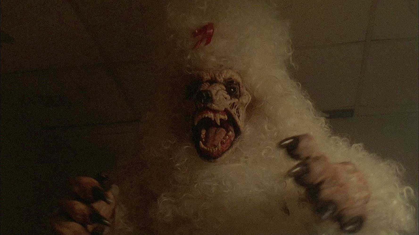 The giant zombie poodle in The Boneyard (1991)