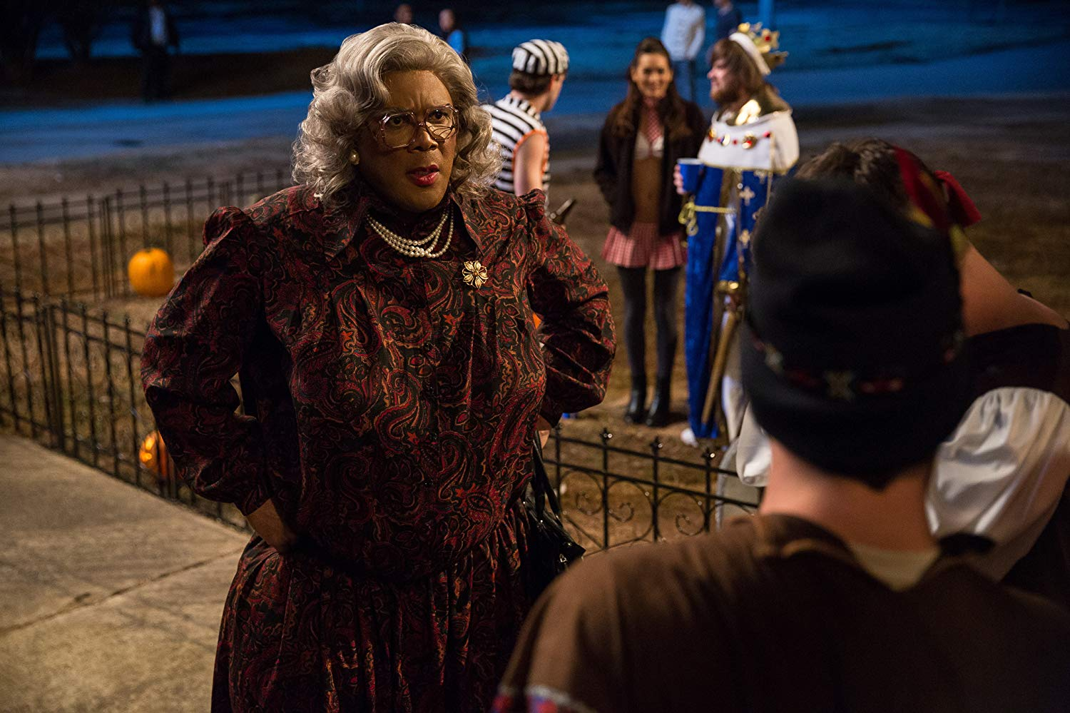 Tyler Perry as Madea arrives at the fraternity party in Boo! A Madea Halloween (2016)