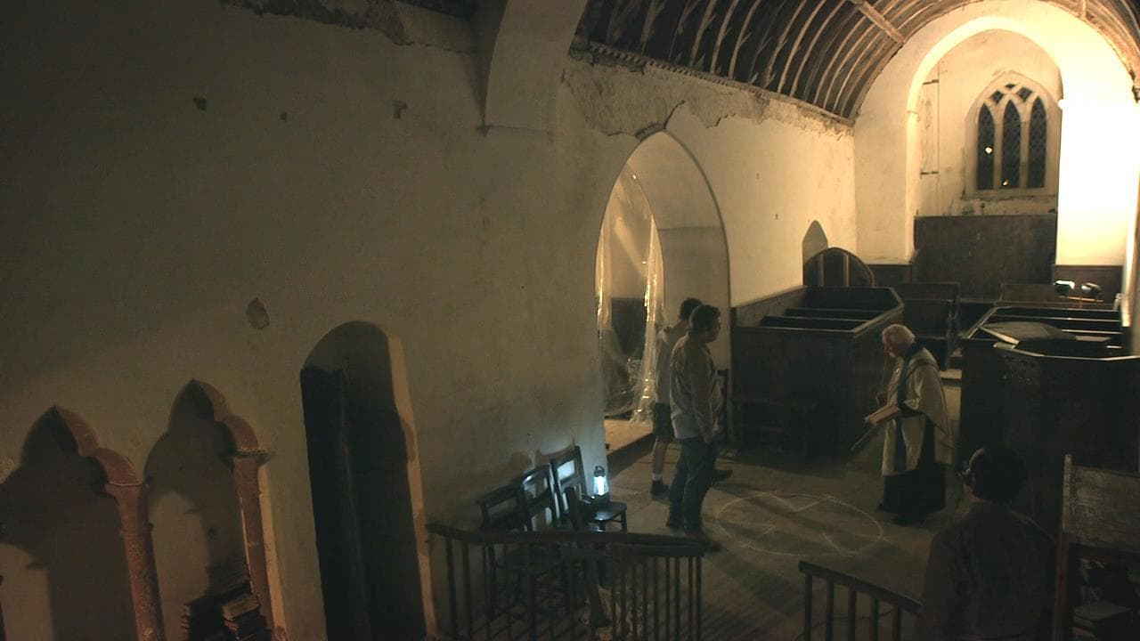 The team investigate the haunted church in The Borderlands (2013)