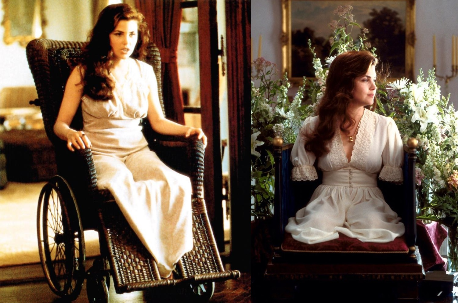 Sherilyn Fenn in a progressive state of amputation in Boxing Helena (1993)